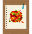 Autumn bouquet with leaf for your design vector image