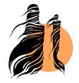 beautiful muslim woman abstract fashion vector image vector image