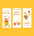 birthday party invitation vertical card template vector image vector image