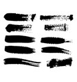 black ink spots set on white background ink vector image