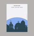 blue dom church slovakia vintage style landmark vector image
