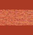 brick wall background red and brown texture vector image