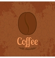 Brown Textured Background with Coffee Beans vector image vector image