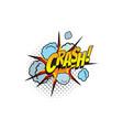 cartoon comic book sound crash bubble blast vector image vector image