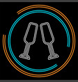 champagne bottle icon - drink alcohol vector image