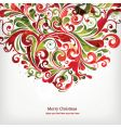 Christmas floral design vector image vector image