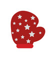 christmas glove icon vector image vector image