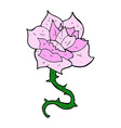 comic cartoon rose vector image vector image