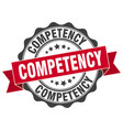 competency stamp sign seal vector image vector image