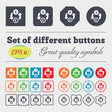 Currency exchange icon sign Big set of colorful vector image vector image