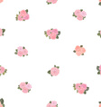 cute seamless texture with tiny roses on white vector image vector image