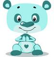 cute turquoise blu teddy bear cartoon character vector image