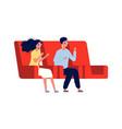 date in cinema boy girl watch movie in 3d glasses vector image vector image
