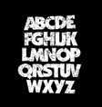 detailed grunge dirty font alphabet vector image vector image