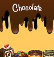 Different dessert with chocolate vector image vector image