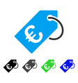 euro tag flat icon vector image vector image