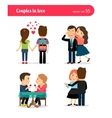 First date of happy couple vector image vector image