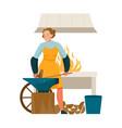 flat woman blacksmith vector image