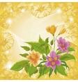 Flowers alstroemeria and ipomoea contours vector image