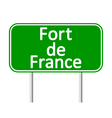 Fort-de-France road sign vector image vector image