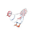 french hen for 12 days christmas charms vector image vector image