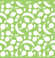 fruit shapes seamless repeat white green vector image