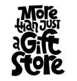 gift shop lettering vector image
