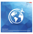 globe icon with plane vector image vector image