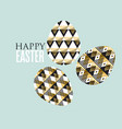 gold and black concept easter egg decoration of vector image vector image
