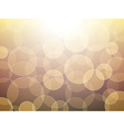 Gold bokeh background vector image
