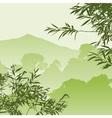 green forest landscape vector image vector image