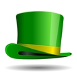 Green St Patrick Day hat vector image vector image