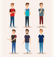 group of young men vector image