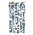 Hi-tech pattern vector image vector image