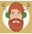 hipster headphones vector image