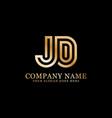 jd monogram logo inspirations letters logo vector image vector image