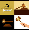 judge gavel legal hammer cartoon vector image vector image