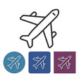 line icon of plane in different variants vector image