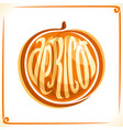 logo for apricot vector image vector image