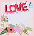 love word doodle cartoon in pastel colorful vector image