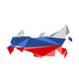 low poly style map of russia vector image vector image