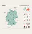 map germany high detailed country map with vector image vector image