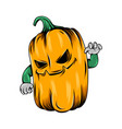 monster yellow pumpkin with good vector image vector image