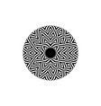 Op art style - black and white abstract optical