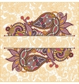 oriental decorative template for greeting card vector image vector image