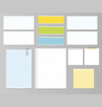 paper and post set vector image vector image