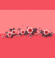 paper cut decorative flowers vector image