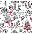 pattern with russian folklore vector image vector image
