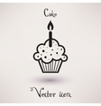Pictograph of cake icon Template for your design vector image