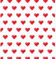 pixel heart background seamless love pixel vector image vector image